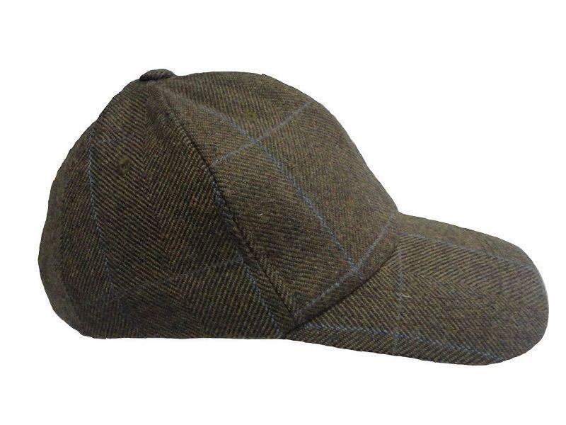 Wool Tweed Olive Heather Mens Baseball Tweed Cap Hat Hunting Shooting RRP  £29 f8dc1565f5b